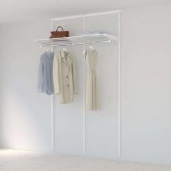 Kit Rangement Dressing Basic Elfa Blanc 120 Cm-Elfa