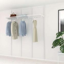Kit Rangement Dressing Basic Elfa Blanc 180 Cm-Elfa