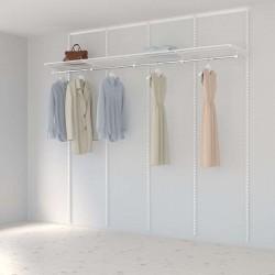 Kit Rangement Dressing Basic Elfa Blanc 240 Cm-Elfa