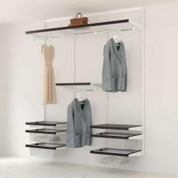 Kit Rangement Dressing Prenium Elfa Blanc Noyer 180 Cm-Elfa