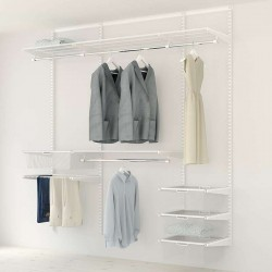Kit Rangement Dressing Medium Elfa 2 Blanc 210 Cm-Elfa