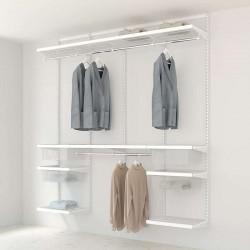 Kit Rangement Dressing Prenium Elfa Blanc Bois Blanc 240 Cm-Elfa