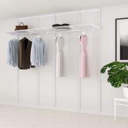 Kit Rangement Dressing Basic Elfa Blanc 210 Cm-Elfa