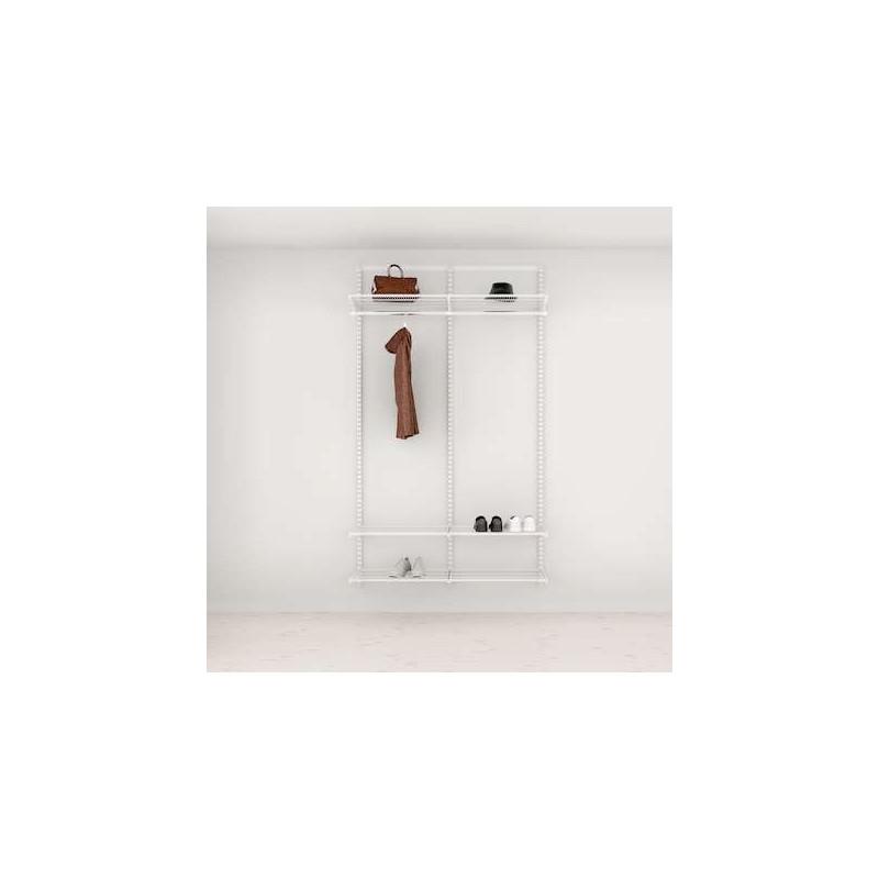 Rangement-Solution d'entrée Elfa Classic Blanc option 3