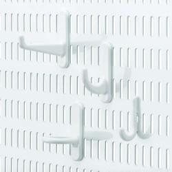 Crochets pour panneau perforé, multi-pack Elfa Blanc